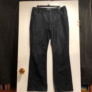 Chico's platinum Dark Denim Jeans.  Size 12
